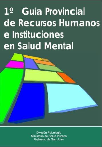 1º Guía Provincial de Recursos Humanos e Instituciones en Salud Mental