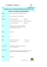 Programación - Colegio Oficial de Arquitectos de la Región de Murcia