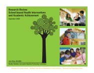 Research Review School-based Health Interventions and Academic Achievement
