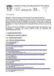 circular 33 /12 - Colegio Oficial de Arquitectos de la Región de Murcia