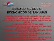 INDICADORES SOCIO- ECONOMICOS DE SAN JUAN