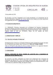 CIRCULAR - Colegio Oficial de Arquitectos de la Región de Murcia