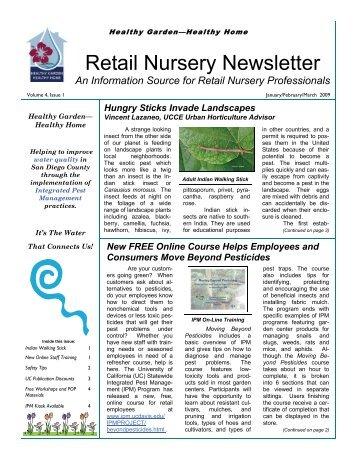 Retail Nursery Newsletter