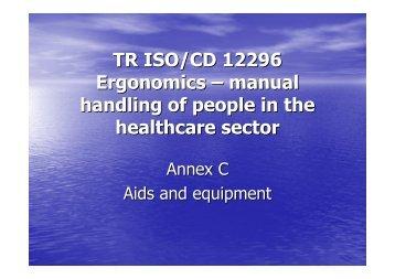 TR ISO/CD 12296 Ergonomics – manual handling of people ... - epm
