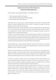 Valutazione del rischio nei Blocchi Operatori : risultati dello studio ...