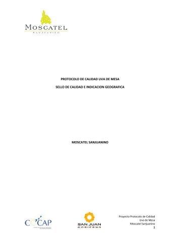 Protocolo de calidad para uva de mesa - Ministerio de Producción y ...