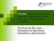 Provincia de San Juan – Secretaria de Agricultura Ganadería y Agroindustria
