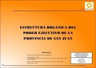 ESTRUCTURA ORGANICA DEL PODER EJECUTIVO DE LA PROVINCIA DE SAN JUAN