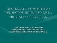 Proyecto Desarrollo Competitivo del Sector Semillero de la