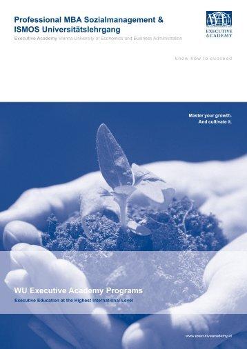 Professional MBA Sozialmanagement & ISMOS ... - WIFI Croatia