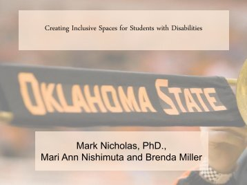 Creating Inclusive Spaces for Students with Disabilities