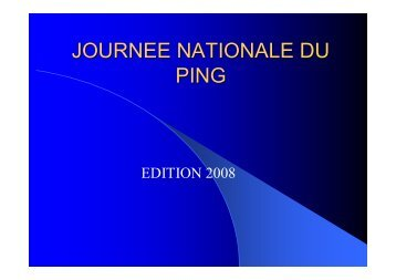 JOURNEE NATIONALE DU PING