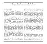 150 Jahre Eisenbahn im Landkreis Lindau - edition inseltor lindau