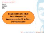 Die Balanced Scorecard als kennzahlengestütztes ...