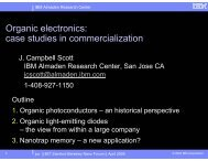 Organic electronics case studies in commercialization
