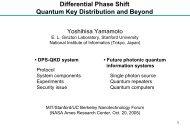 Prof. Yoshihisa Yamamoto - MIT · Stanford · Berkeley ...
