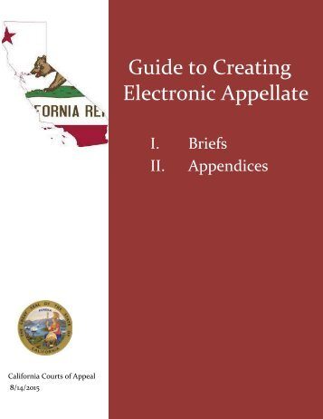Guide to Creating Electronic Appellate