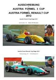 AUSSCHREIBUNG AUSTRIA FORMEL 3 CUP ... - AUSTRIA F3 CUP
