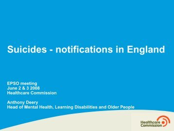 Suicides - notifications in England
