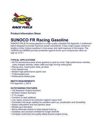 SUNOCO FR Racing Gasoline - Horag