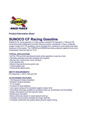 SUNOCO CF Racing Gasoline - Horag