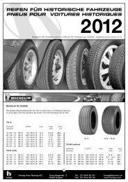 reifen für historische fahrzeuge pneus pour voitures ... - Horag