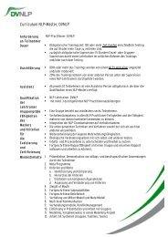 Curriculum NLP-Master, DVNLP