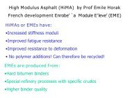High Modulus Asphalt (HiMA) by Prof Emile Horak French ...