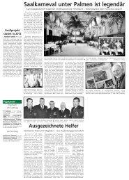 Saalkarneval unter Palmen ist legendär - Stadt Steinheim