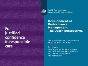 Performance Management The Dutch perspective