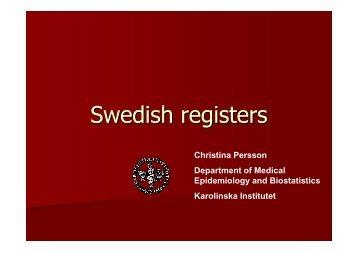Swedish registers