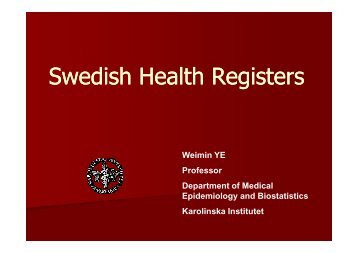 Swedish Health Registers