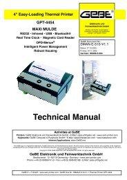 T echnical M anual GPT -4454 MAXI MULDE