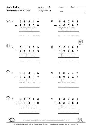 fachbegriffe mathematik schriftliche multiplikation