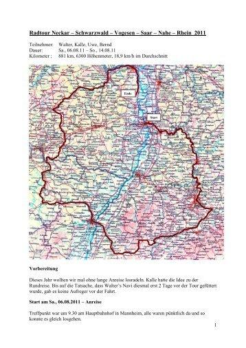 Schwarzwald – Vogesen – Saar – Nahe - Radlerteam-Mettenheim