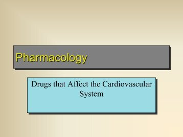Pharmacology