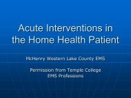 Acute Interventions in the Home Health Patient