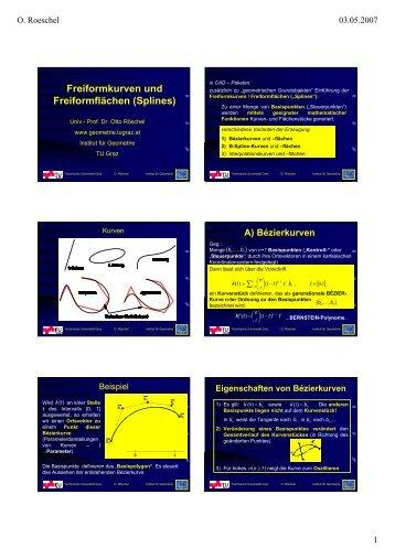 D) B-Spline-Flächenstücke 4