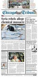 SPORTSFINAL Syria rebels allege chemical massacre