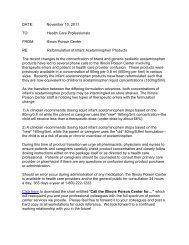 Illinois Poison Center letter on reformulation of infant acetaminophen