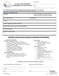 Oncology Referral/Physician Form (pdf) - Centegra Health System