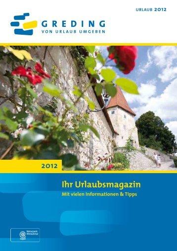 Ihr Urlaubsmagazin 2012 - Stadt Greding
