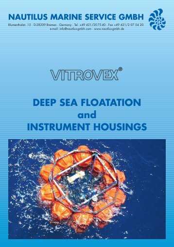 DEEP SEA FLOATATION and INSTRUMENT HOUSINGS