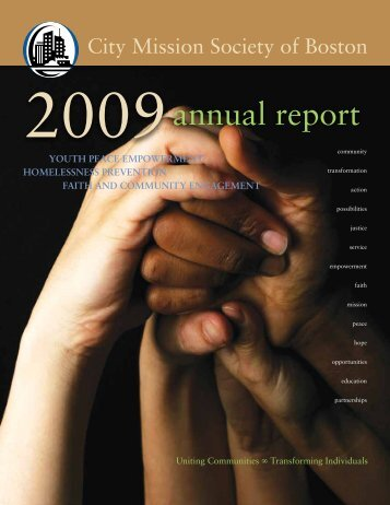 Annual Report - 2009 [Adobe PDF] - City Mission Society of Boston