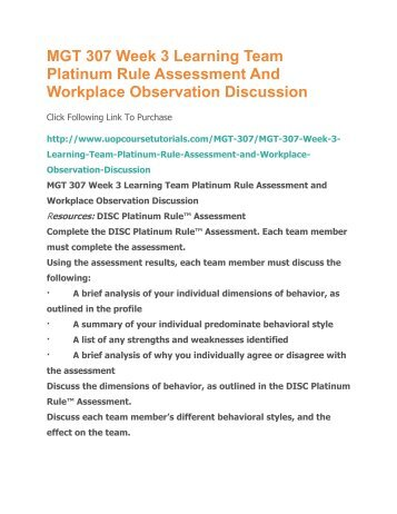 disc platinum rule behavioral style assessment Athlete assessments' disc career management report for allen sample - i/id  style  report matches your disc behavioral style to a range of potential   platinum rule group llc, boden hanson and dr tony alessandra.