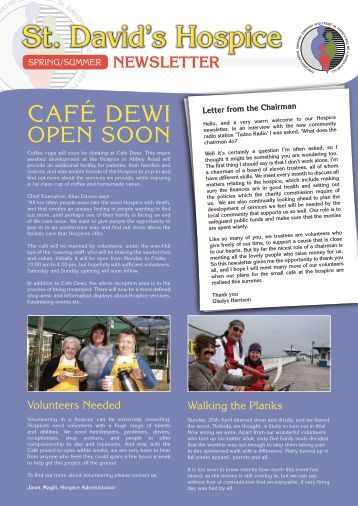St. David's Hospice Newsletter - Spring Summer 2008