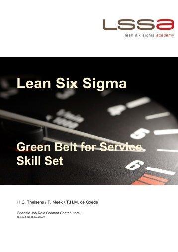 Green Belt for Service - LSSA