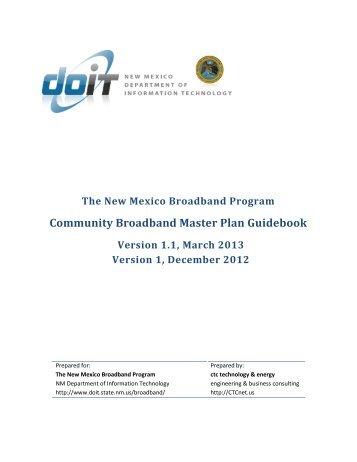 Community Broadband Master Plan Guidebook
