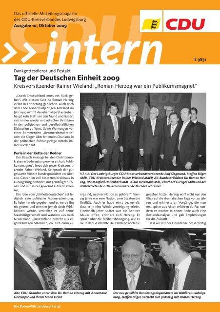 Tag der Deutschen Einheit 2009 - CDU Stadtverband Vaihingen/Enz
