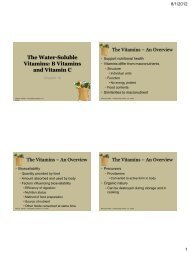 The Water-Soluble Vitamins B Vitamins and Vitamin C